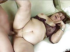 تحصل مارس الجنس الجدة الدهون